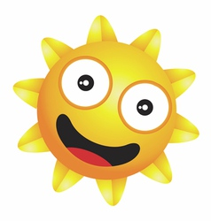 Shiny little happy sun vector image vector image