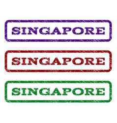 singapore watermark stamp vector image