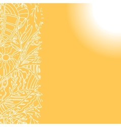 Sunny background with hand drawn ornament vector image vector image