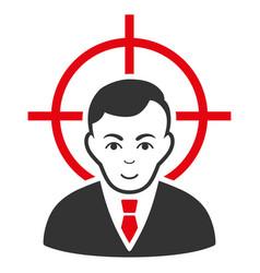 Victim businessman icon vector