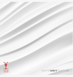 white creamy texture wavy background vector image vector image