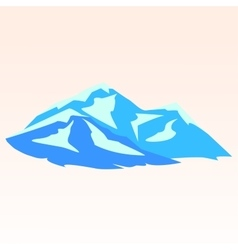 Blue mountains symbolic image vector
