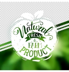 Natural product emblem at transparent vector