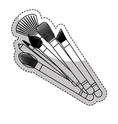 Makeup related icon image vector