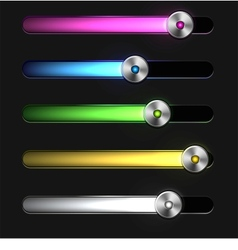 Equalizer glossy glowing track bar vector