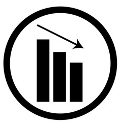 chart down icon vector image