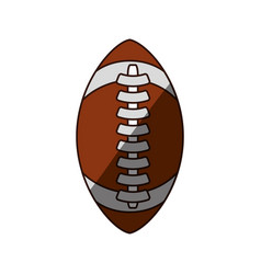 Isolated american football vector