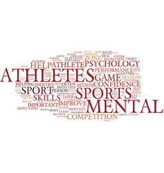 The benefits of sports psychology for athletes vector