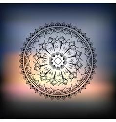 Mandala Sea background vector image