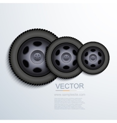 Modern wheels background vector