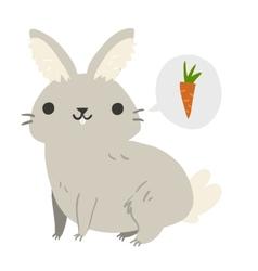 Funny cartoon rabbit mascot vector image