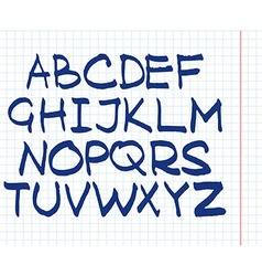Handwritten english alphabet vector