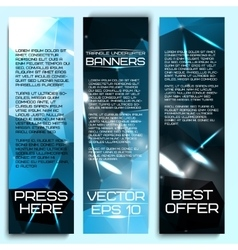 Set of beautiful abstract triangle based banners vector