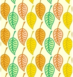 Warm colored seamless autumn leaves pattern vector
