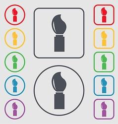 Paint brush sign icon artist symbol symbols on the vector