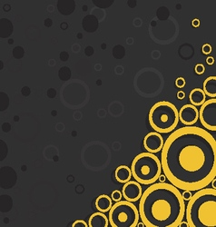 Yellow circles on black background vector