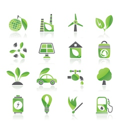 Environment and ecology icons vector