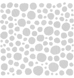 Irregular hatched circles collection in black over vector