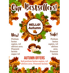 autumn sale shopping fall seasonal poster vector image vector image