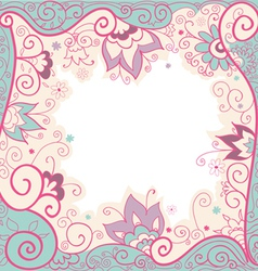 Background with decorative flowers vector image