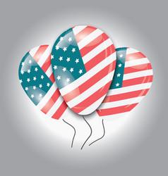Ballons with usa flag vector