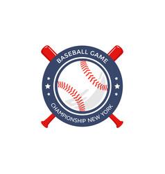 baseball logo emblem vector image