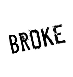Broke rubber stamp vector