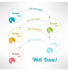 business process steps infographic elements vector image