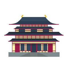 cathedral chinese churche temple building landmark vector image