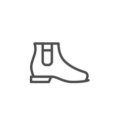 Chelsea boot line icon vector