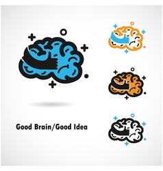 Creative brain logo design icon vector
