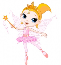 Cute fairy vector
