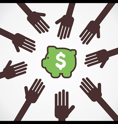 everyone want money concept vector image