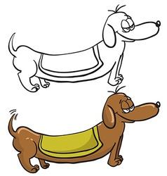 evil dachshund vector image