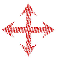 Expand arrows fabric textured icon vector