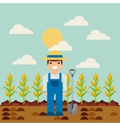 farm and agriculture design vector image