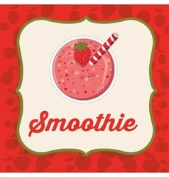 fruit smoothie design vector image