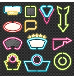Neon sign set vector