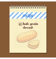 Recipe book loaf vector