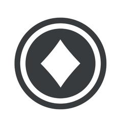 Round black diamonds sign vector