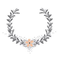 Rustic wreath hand drawn vector