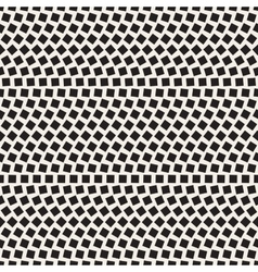 Seamless black and white mosaic squares vector