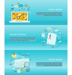 Set of social media flyers vector