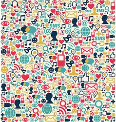 Social media network icons pattern vector image vector image