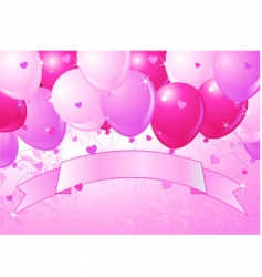 Valentine's balloons vector image vector image