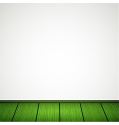 wall with wooden floor vector image