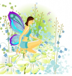 Young butterfly vector
