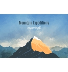 Landscape with mountain peak 2 vector