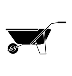 Wheelbarrow tool of farm design vector