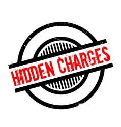 Hidden Charges rubber stamp vector image
